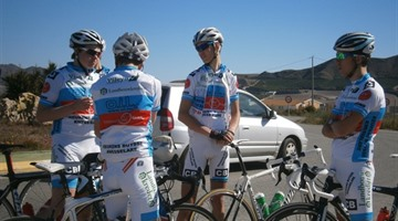 Wielerteams op stage in Mojacar 2013